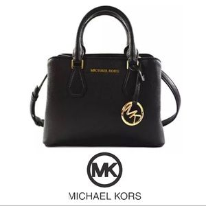 Michael Kors Camille Small Satchel Pebbled Bag NWT